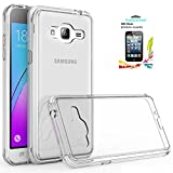 Samsung Galaxy J3V J3 V Case,J3 (2016) 6 / Sky / Amp Prime / Express Prime / Sol Case Clear,AnoKe Slim Fit Protective Cell Phone Cases Cover with Screen Protector for Women Girls Kids Men Galaxy J3 TM