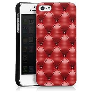 Carcasa Design Funda para Apple iPhone 5 HardCase black - Red Leather Couch