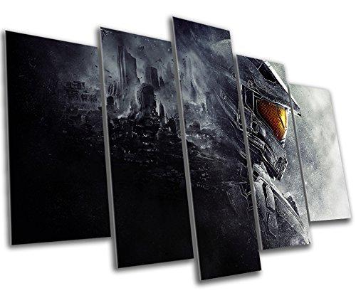 multi panel wall art Amazon.com: Halo Gaming Canvas Print   5 Panel Canvas   Multi  multi panel wall art