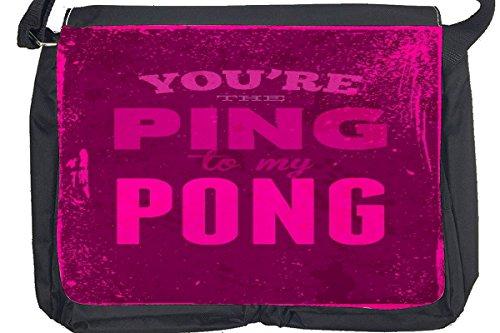 Borsa Tracolla Retro Ping-pong Stampato