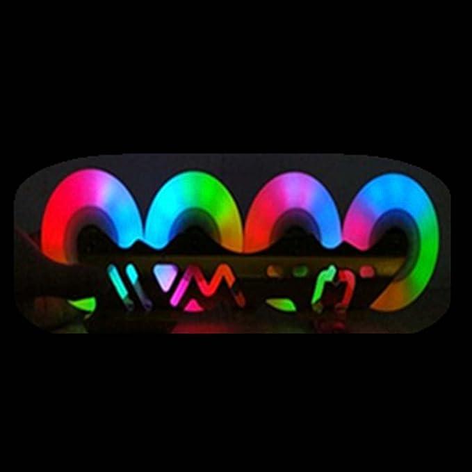 YonganUK Roller Skate Wheels,Practical Wheels Durable Skate Wheel Set,LED Light Skate Wheel Flash Roller Wheels,Suitable for Rollerblade and Roller Skate,Set of 4