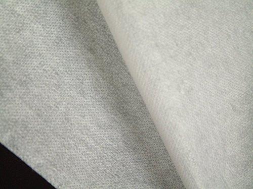 1 lfm. Bügelvlieseline, fest in weiß, 50 g/m², 90 cm breit, für mittelschwere bis schwere Stoffe, einseitig doppelt gepunkteter Kleber
