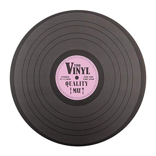 Set de Table r/étro Vintage Decoration de Table Musique Eurowebb Dessous de Plat en Forme de Disque Vinyle
