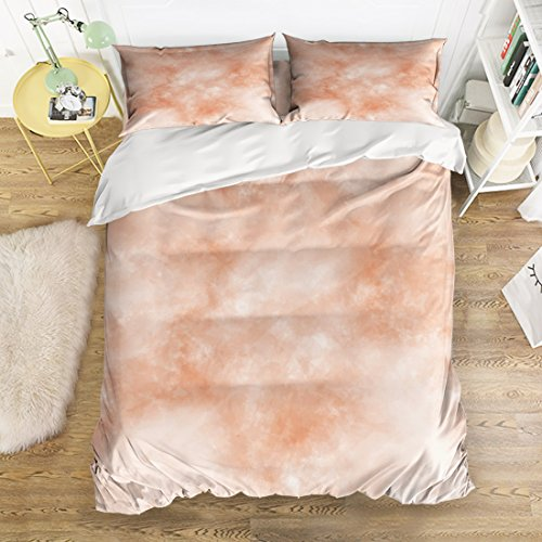 Soft Bedding Sets 4 Pieces Duvet Cover with 2 Pillow Shams -
