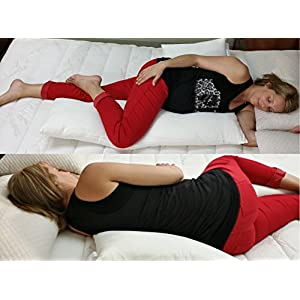 Pregnancy Pillow by Schmoozi - Innovative Back Support and Total Body Comfort - Best For Maternity, Side Sleeping and Low Back Pain Sufferers Alike - Helps Prevent Snoring and Acid Reflux Heartburn