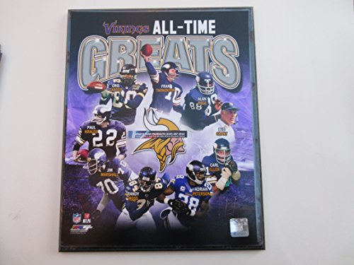 MINNESOTA VIKINGS ALL-TIME GREATS PHOTO MOUNTED ON A '12 x 15