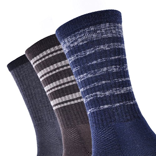 Amazon.com: SOLAX Mens Merino Wool Sport Socks Hombre Hiking Sock Quarter Calcetines 3 Pairs a Pack (Size for 9-12 ASST1): Clothing