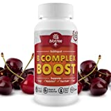 Vitamin-B12-Sublingual-B-Complex-Energy-Pill-with-B12-Methylcobalamin-B6-Biotin-and-Folic-Acid-Natural-Energy-Supplement-Supports-Metabolism-Heart-Health-Stress-Great-Tasting-Cherry-Flavor-100-Caffein