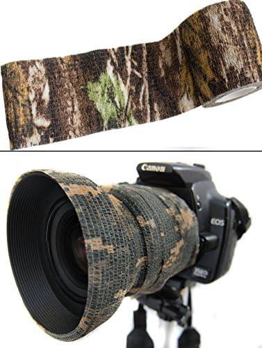 4,5m Ausr/üstung Camouflage Tarn-Tape Real Tree Forest Gewebe-Band wasserfest mehrfach verwendbar Kamera Angler Outdoor Saxx/® Fotografen J/äger
