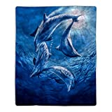 Bedford Home 64A-Dolphins Sherpa Fleece Blanket