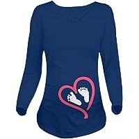 T-Shirt de Maternité, Manadlian Femmes Manches Longues Chemisier Empreinte Maternité Shirt Blouses Coton Tops