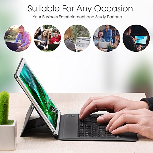 Apsung Keyboard Case New Tablet 9.7,Ultra-Thin Aluminum Portfolio Case, Wireless Smart Keyboard by Apsung (Image #6)