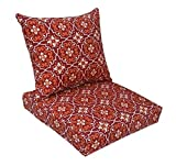 BOSSIMA Indoor/Outdoor Red Damask Deep Seat Chair