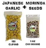 #2: Japanese Garlic (150 Cloves) + Moringa Seeds (1 oz) Bundle!