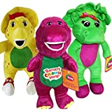 "Musical Barney and Friends Baby Bop Bj Plush Stuffed Toys 12"" 3pcs"