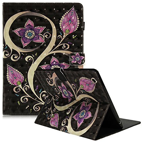 Dteck iPad 2/3/4 Case - 3D Colorful Painting Multi-Angle Viewing Folio Wallet Smart Stand Cover with Auto Wake/Sleep for Apple iPad 2, iPad 3 & iPad 4th Generation with Retina Display, Peacock Flower