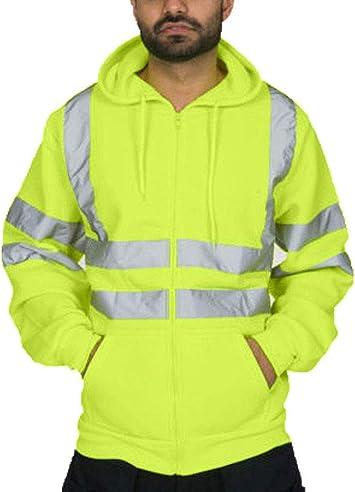 Hi Viz High Visibility Reflective Bomber Jacket Waterproof Security Coat Large