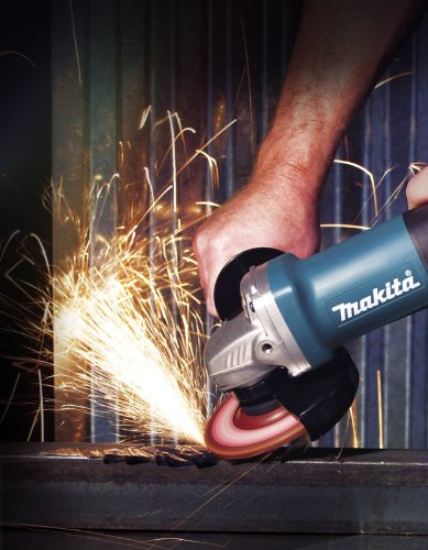 Makita 9557PB Angle Grinder, With Paddle Switch, 4-1/2-In., 7.5-Amp, AC/DC
