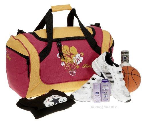 BESTWAY Sporttasche 50 cm FLOWER Sport Tasche Fitnesstasche Berry ORANGE