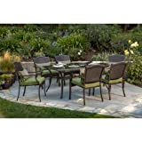 Better Homes and Gardens Providence 7-Piece Patio Dining Set, Green, Seats 6