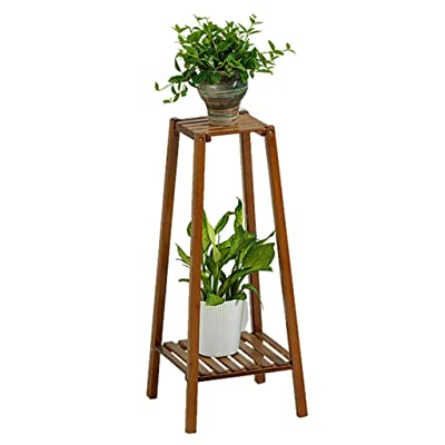 Flower stand Flower stand solid wood floor stand multi-layer flower stand balcony living room fleshy flower pot rack window sill storage rack balcony flower rack ( Color : Brown , Size : 3232120cm ): Garden & Outdoor