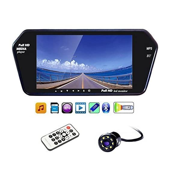 Woschmann 7 Inch Full HD Touch Bluetooth LED Screen and 8 Inch LED Reverse Camera for Maruti Suzuki Swift