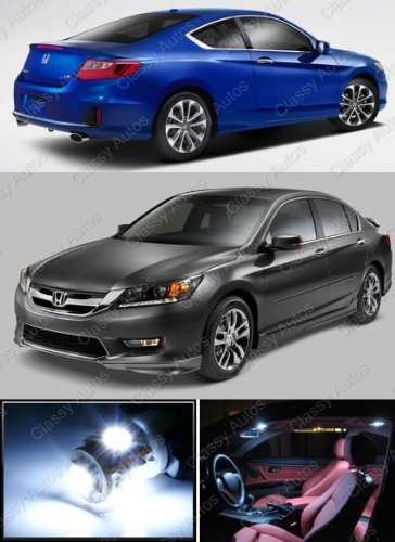 classy autos honda accord white interior led package 6 pieces get affordable prices for car. Black Bedroom Furniture Sets. Home Design Ideas