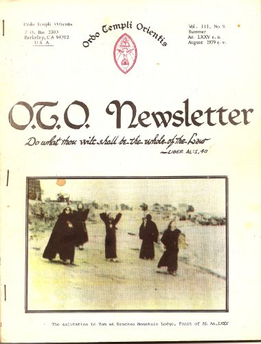 O.T.O. Newsletter Vol. III (3), No. 9 (OTO)