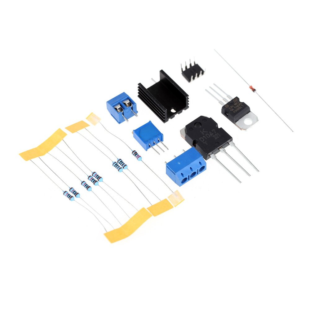 KKmoon Stufenlos Einstellbar DC Geregelt Stromversorgung DIY Kit Kurzschlussstrombegrenzung 0-30V 2mA-3A