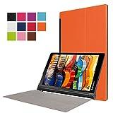 Asng Lenovo Yoga Tab 3 Plus / Lenovo Yoga Tab 3 Pro 10 Case - Ultra Slim Lightweight Standing Cover for Lenovo Yoga Tab 3 Plus YT3-X703F / Yoga Tab 3 Pro YT3-X90F 10.1-Inch Tablet (Orange)