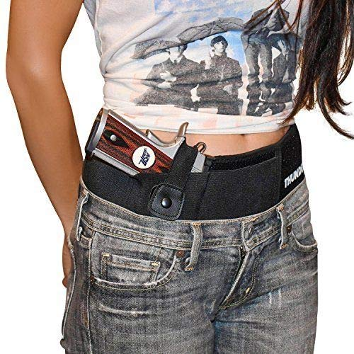 (XL Concealed Carry Belly Band Holster by Thunderbolt Most Comfortable IWB Waistband Gun Holster for Men and Women)