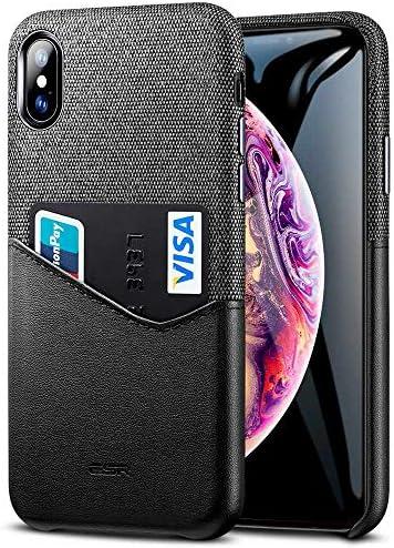 ESR Funda para iPhone XS MAX Tarjetero iPhone XS MAX, Telo Suave + Cuero PU Premium Carcasa con Ranura para Tarjeta para Apple iPhone XS MAX DE 6.5