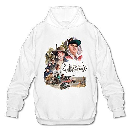 Wilderpeople Men's Fashion Fleece Hoodie S White ()