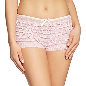 Amazon.com: Leg Avenue Women's Lace Ruffle Tanga Short