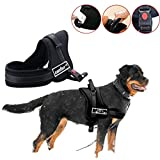 unho Dog Body Harness Padded Extra Big Large Medium Small Heavy Duty Vary from All Kinds of Size (L)