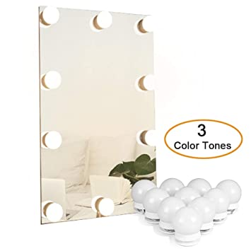 plug in vanity lighting lamp waneway hollywood mirror light kit with multiple color tones for makeup dressing table plug in