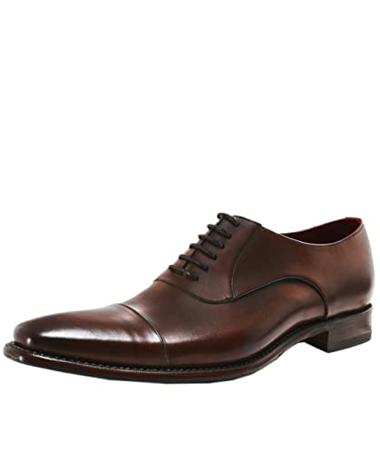 a0e44d4523f Loake Men's Leather Snyder Oxford Shoes Dark Brown: Amazon.co.uk ...