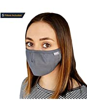 Eco4us - Protective Mask, Cold & Flu Face Mask, Adjustable Mask, Machine Washable Mask, Allergy Mask (Adult, Gray)