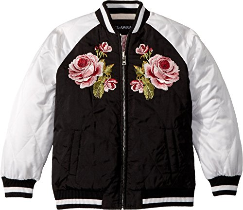 Dolce & Gabbana Kids Girl's Down Jacket -Short (Little Kids) Black 6 by Dolce & Gabbana