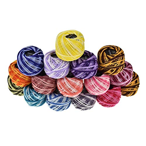 - Supvox Cross Stitch Line Thread Manual DIY Color Embroidery Thread 16 Color(Multicolor)