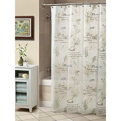 Cherish PEVA Shower Curtain Natural