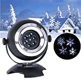 Snowflakes Projector Moving Waterproof LED Lights Gift Decorations for Christmas, Halloween, Holiday, Wall Motion Decoration