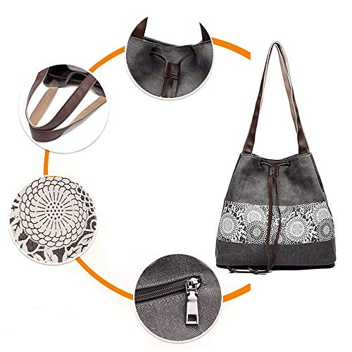 à Sac porter l'épaule Coton Cabas pour Simple Bvane Doux à Femmes Vintage en Gris Sac Main Gris à Bandoulière Vogue w1vnx8fqA