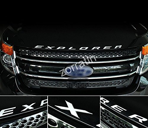 zorratin Chrome Metal (not plastic) Explorer Letter Front Hood Emblem Badge for Ford 2011-2015 2016