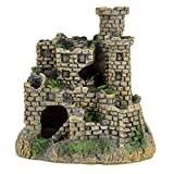 Hygger Aquarium Ornaments Fish Tank Decorations Castle Cave Resin, 4 Inch, Non-Toxic Durable Resin Material, Safe for Fish