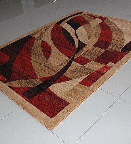 Contemporary Polyester Rug (Homemusthaves Super Soft Geometric Carpet Rug Modern Contemporary Polyester Area Rug Carpet Living Room Bedroom Rug Carpet (8x10 Feet, Berber)