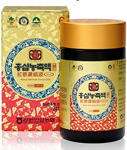 Gangwoninsam Korean Red Ginseng Extract Gold 6 Year Old Red Ginseng Extract 100 , Korean Health Food 240g 8.46 fl. oz 240g