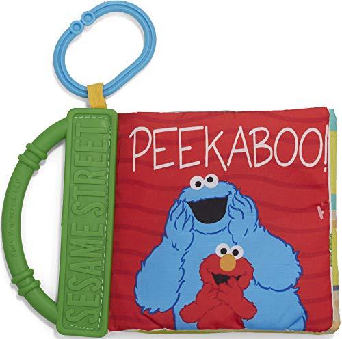 Sesame Street On The Go Peekaboo Soft Teether Book, 8.25