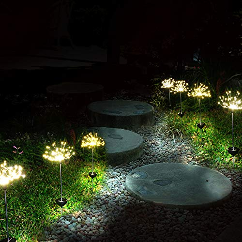 Garden solar lights outdoor 2 pack solar powered - Decorative garden lights solar powered ...