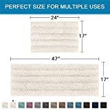 Extra Thick Striped Bath Rugs for Bathroom